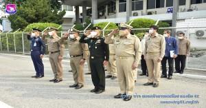 รองผู้บังคับการกองบิน ๔๑ ให้การต้อนรับรัฐมนตรีว่าการกระทรวงมหาดไทย
