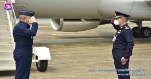ผู้บังคับการกองบิน ๔๑ ให้การต้อนรับผู้บัญชาการกรมควบคุมการปฏิบัติทางอากาศ