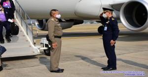 รองผู้บังคับการกองบิน ๔๑ ให้การต้อนรับคณะสำรวจพื้นที่ ๙๐๘