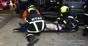 การฝึกซ้อมแผนการช่วยเหลือผู้ประสบภัยทางถนนและทางน้ำ