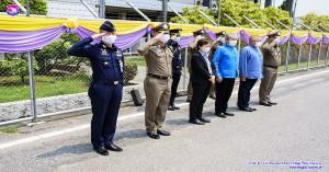 รองผู้บังคับการกองบิน ๔๑ ให้การต้อนรับรัฐมนตรีว่าการกระทรวงสาธารณสุข
